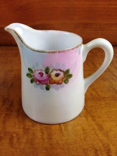 Vintage Hand Painted NIPPON Creamer Pitcher  by SimplyAgain