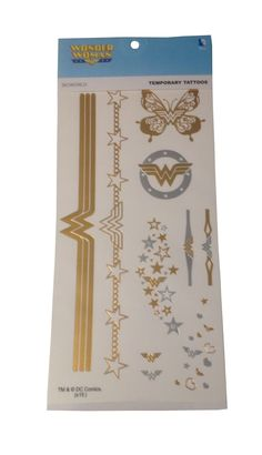 DC Comics Wonder Woman Temporary Tattoos Jewelry Costume Pack New Licensed