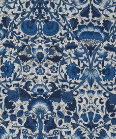 Liberty Art Fabrics Lodden C Tana Lawn (originally a Morris print -- blue buttondown for mum's birthday? Textile Patterns, Textile Design, Fabric Design, Print Patterns, Pattern Design, Liberty Art Fabrics, Liberty Print, Quilt Of Valor, Lawn Fabric