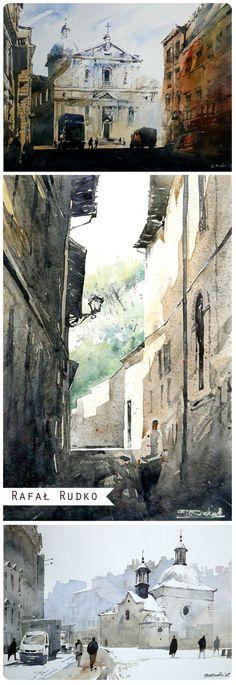watercolors by Rafał Rudko