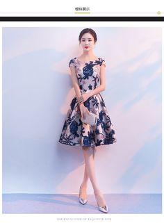 Fleepmart Robe de soiree New Elegant Formal Embroidery Short Prom Dresses Evening Dresses Vestido De Festa Party Dresses Prom Gown