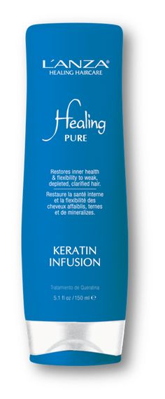 Step 2: Keratin Infusion  Protein-rich treatment  Post-clarifying treatment  A MUST after any clarifying or chelating procedure to fortify hair with Keratin  Works fast – leave on for 1 minute!    L'ANZA is the only brand with a post-clarifying product like this.