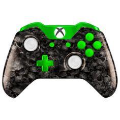 Manette Xbox One avec palettes Ergonomiques Skull Green Blast Controllers