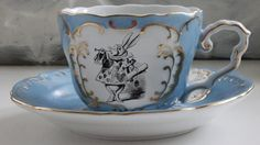 7-Piece Alice in Wonderland Pink and Gold Tea Set Available