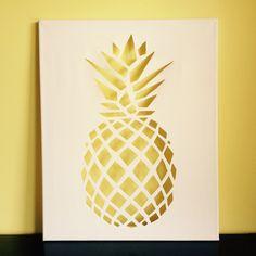 Geometric Pineapple Canvas