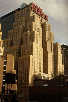 View from our hotel room of New Yorker Hotel when we visited NYC in April 2009