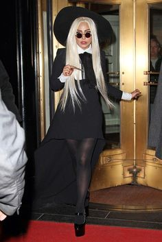 Lady Gaga wearing a Saint Laurent Paris outfit at the rehearsal for the Rolling Stones concert. New York, December Lady Gaga Outfits, Lady Gaga Fashion, Lady Gaga Clothes, Lady Gaga Dresses, Lady Gaga Looks, Moda Lady Gaga, Cute College Outfits, Mode Sombre, Lady Gaga Photos