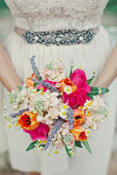 Bright Wildflower Bouquet | photography by http://thenicholsblog.com/