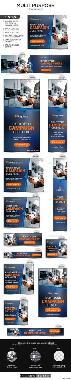 Multi Purpose Web Banners Template PSD #ad #design Download: http://graphicriver.net/item/multi-purpose-banners/14206801?ref=ksioks
