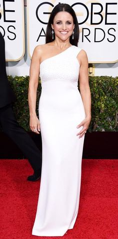 Julia Louis-Dreyfus in Narciso Rodriguez.