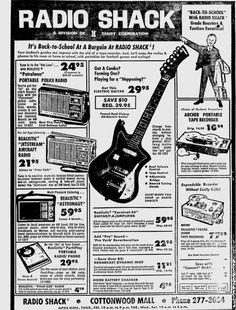 Realistic Jetstream Radio Realistic Patrolman tunable Radio vintage newspaper ad radio shack 1969