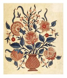 The Creation of Color in Eighteenth-Century Europe. Click twice to read. Folk Art Flowers, Flower Art, Botanical Flowers, Zentangle, Mughal Miniature Paintings, Chinese Prints, Art Chinois, Chintz Fabric, Indian Prints