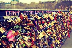 Visit the love lock bridge in Paris with someone I love and leaving a lock is on my bucket list <3