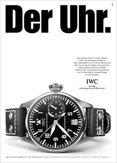 "If you are not familiar with IWC and their ""controversial"" advertising, here's a short bilingual blog with some examples: IWC: Antifeministische Werbung? Anti-feminist advertising? - Bilingual"