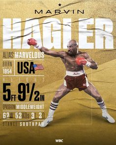 Boxing Training, Boxing Workout, Marvelous Marvin Hagler, Boxing Posters, Professional Boxing, Boxing History, Sports Graphic Design, Boxing Champions, Combat Sport