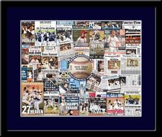 Yankees World Series Headline Newspapers Framed Picture Framed Sports Picture