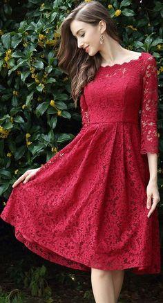 eDressit Long Sleeves Red Lace Cocktail Party Dress Source by casual femenina para bajitas Trendy Dresses, Club Dresses, Sexy Dresses, Dress Outfits, Fashion Dresses, Casual Dresses, Formal Dresses, Long Dresses, Dress Long