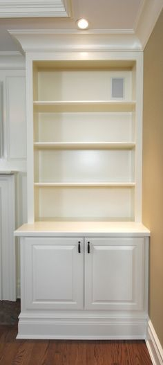 Built in bookshelf nice dimensions and doors how to for Built in cabinets