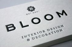 Bloom business card design by famous visual services