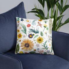 Floral Throw Pillow Decorative Throw Pillow18x | Etsy