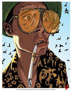 Items similar to Fear and Loathing in Las Vegas Johnny Depp Bat Country Art Print Arte Dope, Dope Art, Arte Bob Marley, Dope Kunst, Tableau Pop Art, Art Et Design, Arte Hip Hop, Hunter S Thompson, Rock Poster