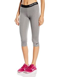 Nike Women's Dri-Fit Pro Training Capris-Heather Gray-Small - http://best-women-shop.xyz/2016/06/23/nike-womens-dri-fit-pro-training-capris-heather-gray-small/
