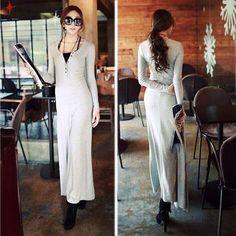 Fashion Slim Fit Solid Color Sing-breasted Irregular Hem Dress
