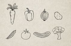 Handmade Illustrations: Vegetables