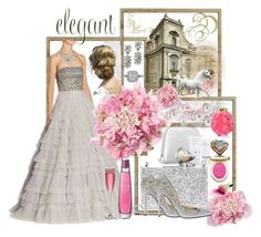 """""""A Time For Elegance"""" by sherrysrosecottage-1 ❤ liked on Polyvore featuring Aspinal of London, Swarovski, La Prairie, Lalique, Yves Saint Laurent, Oscar de la Renta and Zuhair Murad"""