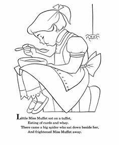 Nursery Rhyme Coloring: Twinkle, Twinkle, Little Star