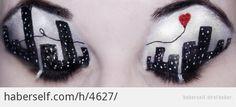 dünyanın en tatlı göz makyajı