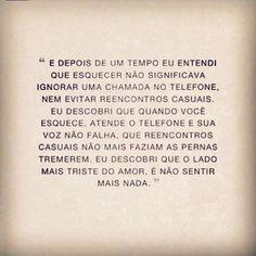 Esquecer...