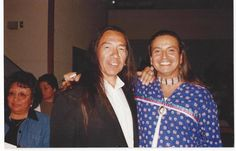 """At the top of popularity.  In a warm embrace with an indigenous """"brother"""". Actor/director  Pato Hoffmann. Pato's happiest & successful 90's."""