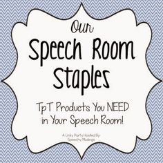 Our Speech Room Staples Linky Party