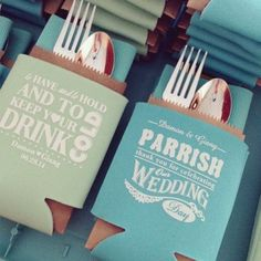 How creative is this to display #koozies at a #wedding? Great regram from @timelessthings! engagement ideas
