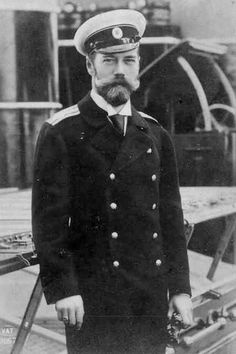 Handsome Man Bearded Edwardian Naval Navy by EclecticForest