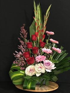 Valentine Floral Arrangements 39 You are in the right place about Flowers Arrangements tattoo Here w Valentine Flower Arrangements, Tropical Floral Arrangements, Creative Flower Arrangements, Flower Arrangement Designs, Funeral Flower Arrangements, Valentines Flowers, Rose Arrangements, Beautiful Flower Arrangements, Flower Centerpieces