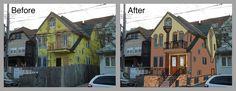 Bildresultat för house under construction before and after