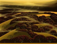 When the Fog Rolls In Eyvind Earle - WikiPaintings.org 1995