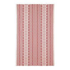 Love this holiday fabric.  Perfect for little Christmas aprons, napkins, etc.  $3.99/ yard.  Table runner perhaps?