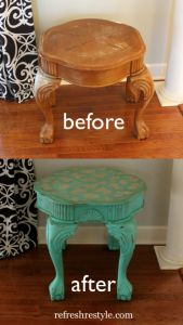 Cutting Edge Stencils -Table Makeover plus a Giveaway! - Refresh Restyle