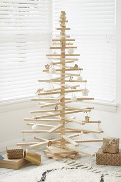 One Two Tree Christmas Tree: Flying in the face of tradition, this Christmas tree is a minimalist's dream and it's eco-friendly to boot. From $399.