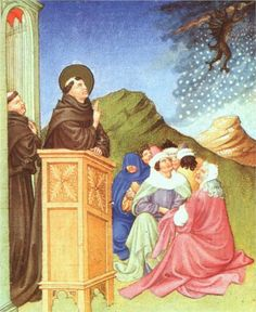 St. Anthony of Padua Stilling a Storm - Limbourg brothers