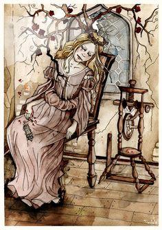 Sleeping Beauty by Tiedala.deviantart.com on @deviantART