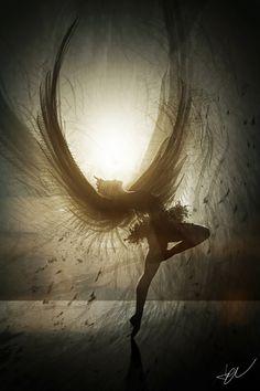 Stunning Black Swan piece by UK artist Adam Burn aka Phoenix-06 on Deviant Art.com