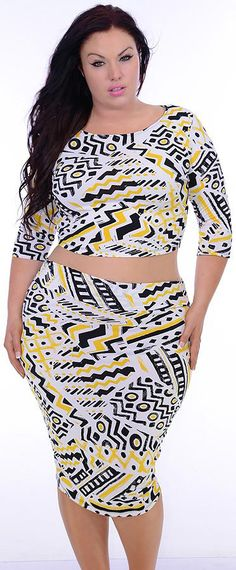 Calling It (Plus/White/Yellow)-Great Glam is the web's best sexy plus size online store clothing website for 1X 2X and 3X clothes for women and juniors.