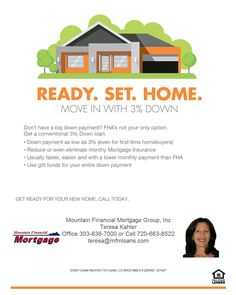 Buy a house with only 3% down payment