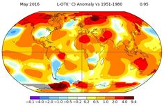 """NASA study cites May as the warmest on record, which could mean that 2016 will beat 2015 in the title for """"the warmest year on record."""""""