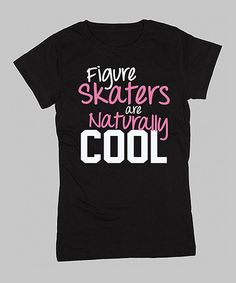 Another great find on #zulily! Black 'Naturally Cool' Fitted Tee - Girls by KidTeeZ #zulilyfinds