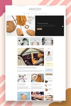 Why Arezzo? Show off your hard work and engage your audience with Arezzo, our latest WordPress theme crafted for bloggers, photographers, designers, and creatives alike. Arezzo will highlight your content beautifully and help you stand out among all the others. #blogtheme #wordpresstheme #woocommercetheme